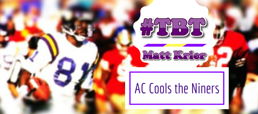 Vikings #TBT: AC Cools the Niners