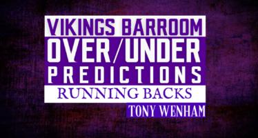 Over/Under: Vikings Running Backs