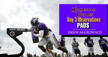 Minnesota Vikings Training Camp: Day 3 Observations