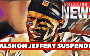 Alshon Jeffery Suspended For PED Violation