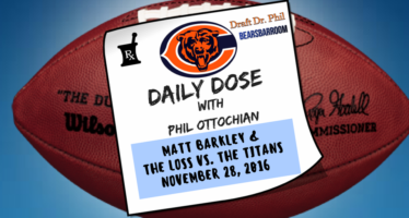 Chicago Bears Daily Dose – 11/28/16 – Matt Barkley vs Titans
