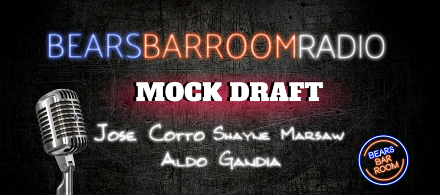 Bears Barroom Radio – Mock Draft with Cotto & Marsaw