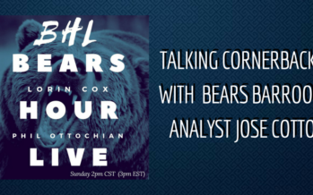 Bears Hour Live: Talking CBs with Jose Cotto