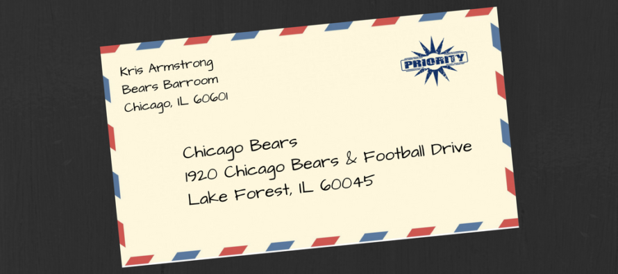 Kris Armstrong With a Priority Letter To The Bears