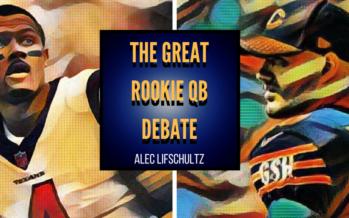 The Great Rookie QB debate.