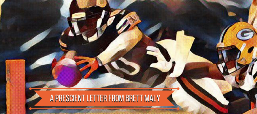 A Pre-Packer Game Letter From Brett Maly
