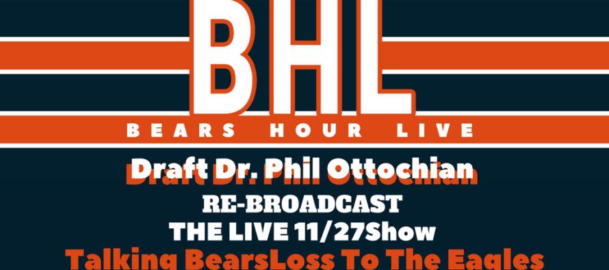Bears Hour Live with Draft Dr. Phil – Post Eagles Loss & New Barroom Christmas Song!
