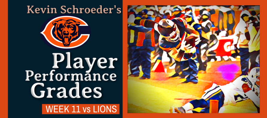 Kevin Schroeder's Bears Player Performance Grades vs Lions