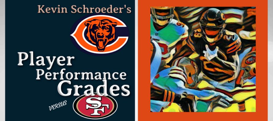 Kevin Schroeder's Chicago Bears Player Performance Grades vs 49ers