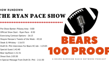 Bears 100 Proof – It Is Now The Ryan Pace Show