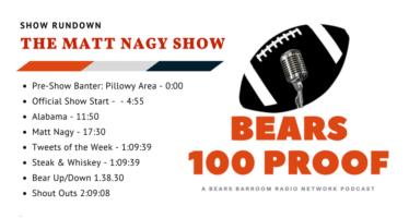 Bears 100 Proof: The Matt Nagy Show