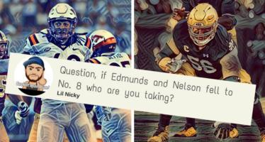 Tremaine Edmunds or Quenton Nelson?